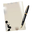 pen and ink vector image