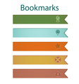 Bookmark icons forest vector image