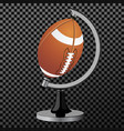 american football american football globe vector image