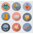 Autumn objects vector image