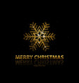christmas background with gold snowflake vector image