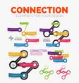 diagram elements set of connection concept vector image