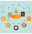 flat infographic Ramadan Kareem vector image