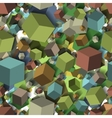 Isometric fall cubes seamles texture background vector image
