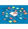 modern isometric email marketing background vector image