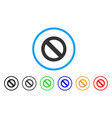no sign rounded icon vector image