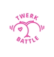 Twerk battle logo template isolated cartoon vector image