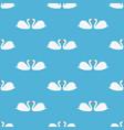 white swan seamless pattern vector image