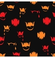 seamless pattern with sharp teeth Halloween vector image vector image