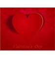 Enamored heart on a celebratory background vector image