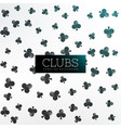 clubs symbol pattern background vector image