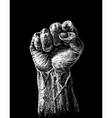 Hard clenched fist vector image