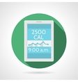 Flat color icon for app calorie counter vector image