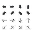 Arrow icon set 1 simple vector image
