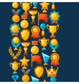 Sport or business seamless pattern with award vector image vector image
