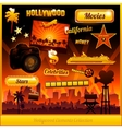 hollywood cinema movie elements vector image