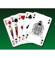 Poker hand - Two pair vector image