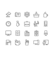 Line Office Icons vector image