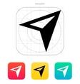 Arrow navigator icon vector image