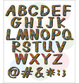 Big letters of the alphabet vector image