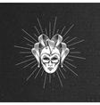 engraving venetian carnival mask vector image