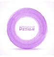 Hand drawn watercolor light purple circle design e vector image