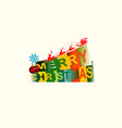 merry christmas with santa claus on deer vector image