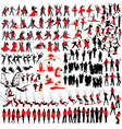 people at leisure silhouettes vector image