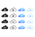Cloud computing icons - set 4 vector image vector image