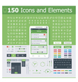 Operating system interface elements vector image vector image