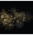 glittering stars on bokeh background vector image vector image
