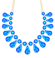 womans necklace with precious stones vector image vector image