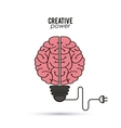 Creative mind and idea icon design vector image