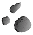 Asteroids isolated on white vector image