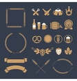 Beer icons and signs vector image