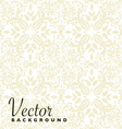 Floral beige repeat vector image