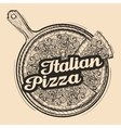 Italian pizza Hand drawn food Sketch vector image