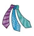 male ties set vector image