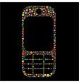 mobile phone shape vector image