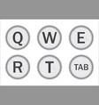 typewriter keys qwert vector image