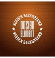 wooden background with place for your text vector image