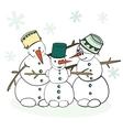 Humorous Winter Snowman vector image