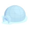 Igloo icon cartoon style vector image