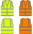 reflective safety vest yellow orange vector image