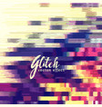 glitch effect background vector image