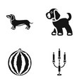 animal cooking and or web icon in black style vector image