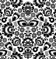 Polish folk seamless pattern in black and white vector image vector image