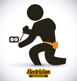 electrician design vector image