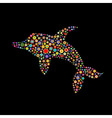 dolphin shape vector image vector image