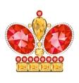 King golden crown vector image